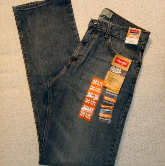 9ca3401d Wrangler Jeans | Mens 4way Flex Relaxed Straight | Poshmark